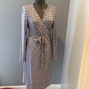Boden long sleeve wrap dress size 10 - like new